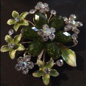 Shade of Green Flower Pin/Brooch